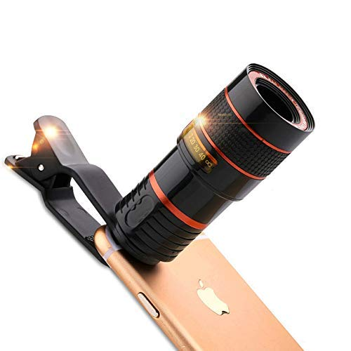 INUOAP 8X Optical HD Cell Phone Camera Telephoto Lens with Universal Clip for iPhone X, 8, 7, 6s, 6, SE, Samsung Galaxy S9, S8, S7, S7 Edge and Most Smartphones