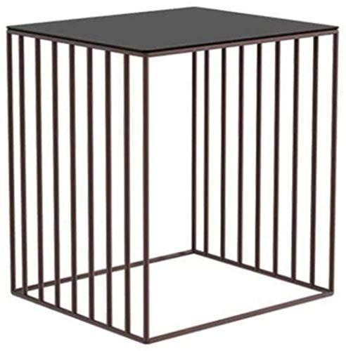 File cabinets Mesita de noche de metal con forma de mesita de noche, sencilla, duradera, práctica mesa auxiliar (color: marrón)