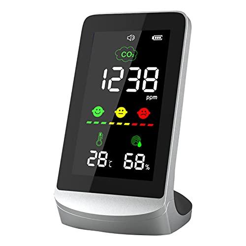 Detector de dióxido de carbono CO2, monitor de calidad del aire, detector de aire inteligente para la detección de la calidad del aire, muy adecuado para uso en el hogar y la oficina