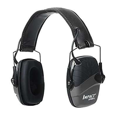Howard Leight by Honeywell Impact Sport Sound Amplification Electronic Shooting Earmuff, Black (R-02524), One size fits most