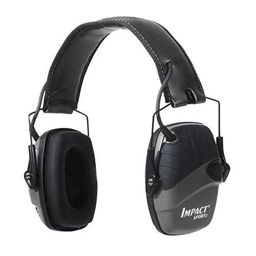 Howard Leight by Honeywell Impact Sport Sound Amplification Electronic Shooting Earmuff, Black
