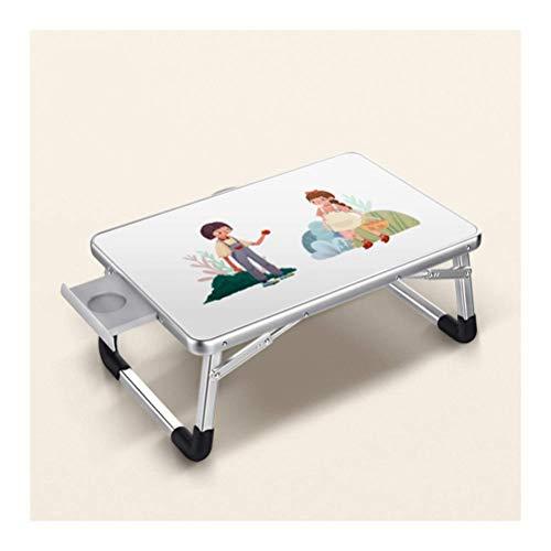 Mobiler Lap-Tisch, Notebook-Tisch Laptop-Betttablett-Nachttisch, für Gaming-Schlafsofa Reisen und mobile Nutzung (Farbe: Winter's Words, Größe: 70x50cm)