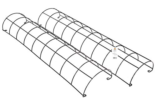 Ruddings Wood Pack of 2 x Metal Tube Trellis - Semi Circular Drainpipe Framed section Trellises