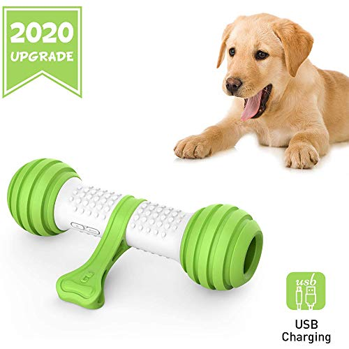 UNIIKE Elektronisches Hundespielzeug Automatische Hundeknochen-Spielzeug, Hunde Entertainment Spielzeug Interactive Bone & Interactive Spielzeug Für Hunde Groß/Mittel, Tresor Material PC TPU