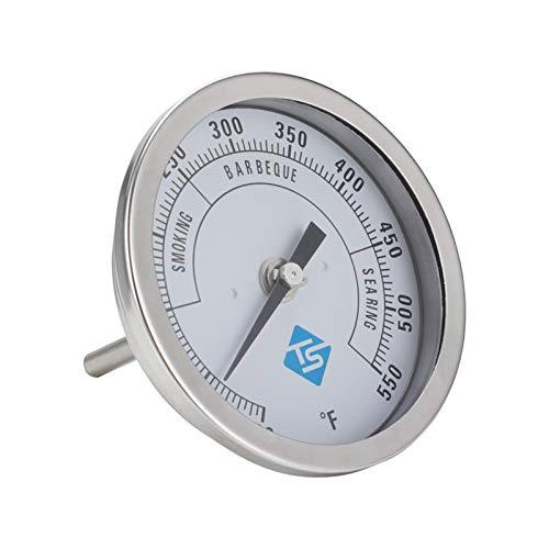 mementoy Termómetro de horno de acero inoxidable con vástago largo y termómetro, 10 – 600 °F.