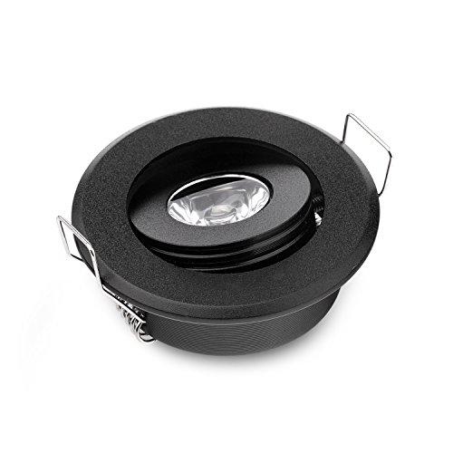 3W led pequeño mini foco luces ajustables de alta potencia empotradas abajo luces