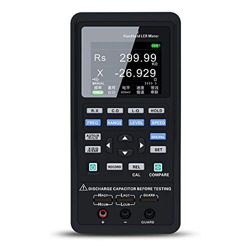 HANTEK Portable Handheld Measuring Instrument LCR Meter High Precision Tester HD Large Screen Parameters 100Hz~100kHz 0.3~0.6Vrms