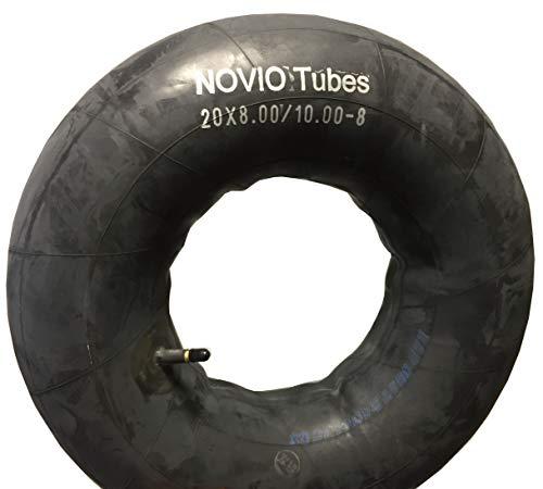 Schlauch 20 x 8.00/10.00-8 passend für Reifen für Aufsitzmäher Rasenmäher, gerades Ventil