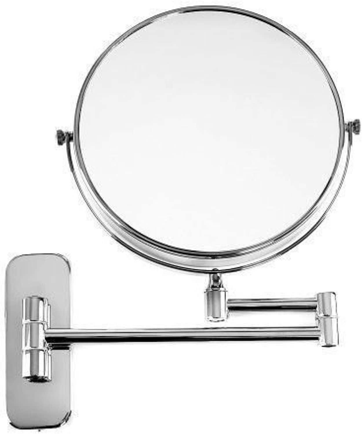 Magnifying Mirror Mirror,Two Side Beauty Foldable Round Mirrors Bathroom