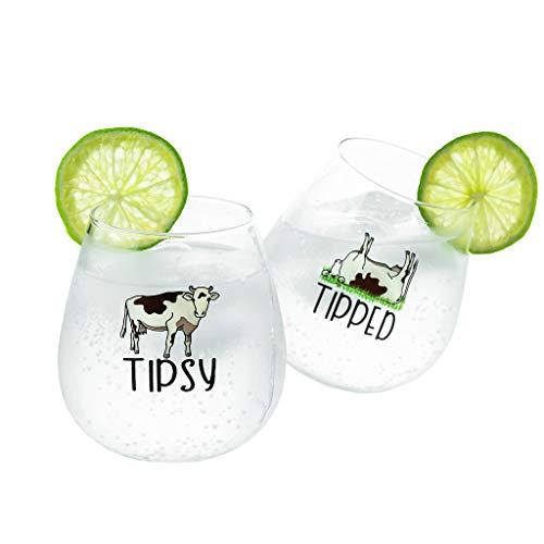 Cow Wine Glasses