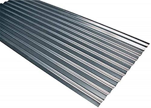 10 chapas galvanizadas de hoja de 200 x 90 cm – Grosor 0,25 mm