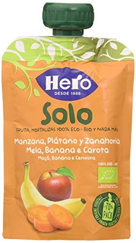 Hero Baby Solo Bolsita de Manzana, Plátano y Zanahoria Puré de Frutas...