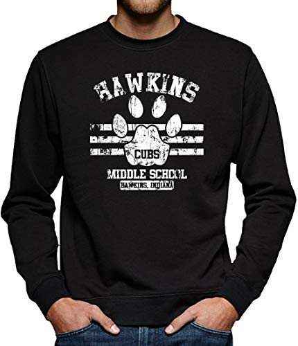TShirt-People Stranger Hawkins Things Pull pour Homme - Noir - XXX-Large