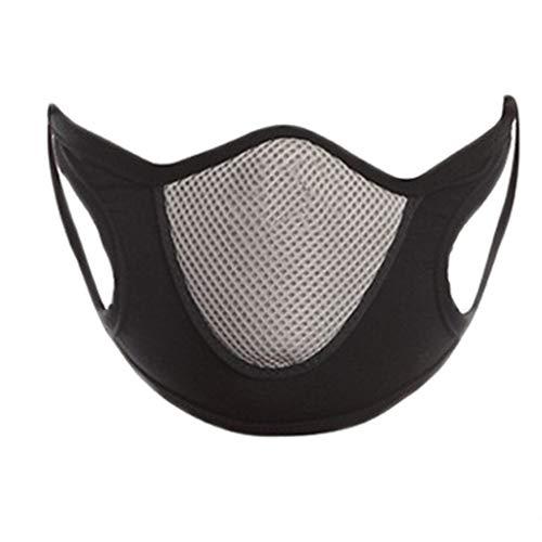 Jesdo 1 Stück staubdichte und smogfeste atmungsaktive Mode Waschbarer Earloop Face Cover Mundgesichtsschal Atemschutzgerät für nebligen Dunst (Grau)