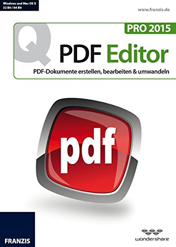 Franzis Quick PDF Editor Pro 2015