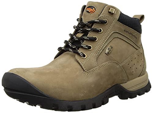 Woodland Men's Dubai Khaki Leather Ankle Boot (OGBC 3485119)