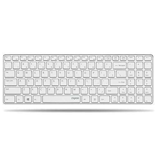 Rapoo E9110 kabellose Tastatur, 2.4 GHz Wireless-Verbindung, ultraschlankes Design, 24 Monate Batterielaufzeit, weiß