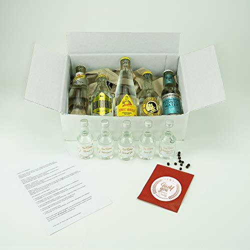Gin Tasting Set Variation | 5 exklusive Gins mit 5 passenden Tonics empfohlen vom Experten für zu Hause