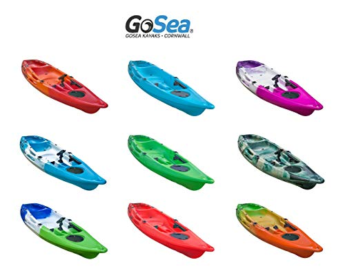 GoSea Glide Single Sit on Top Fishing Kayaks | Premium 1+1 Kayak for Adult with Child Seat Ideal for Sea Surf