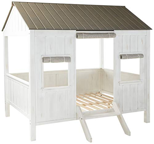 ACME Spring Cottage Full Bed - 37655F - Weathered White & Washed Gray