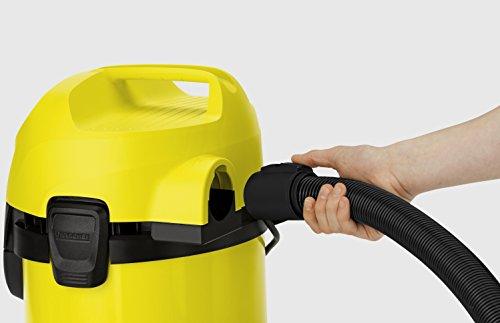 Kärcher MV 3 Aspirador Sin Bolsa Multiuso, Boquilla para Aspiración Seco Y Húmedo, 220-240 V, 1000 W, 17 litros, 73 Decibelios, Corriente sin control de encendido, Plástico, Negro-Amarillo, Antiguo