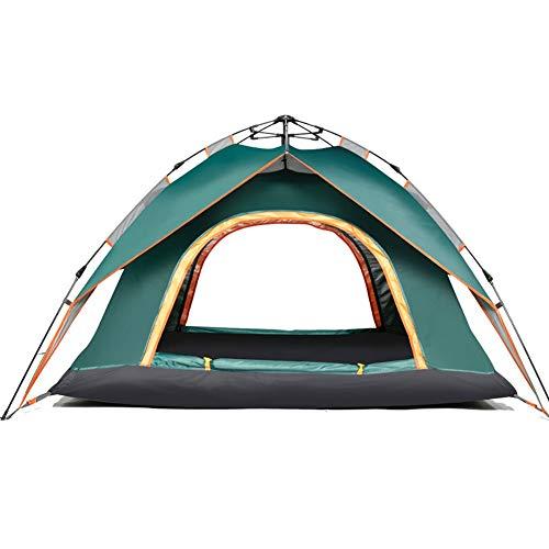ZCY 3-4 Preson Automatische Pop-up Tent, Outdoor Waterdichte Camping Tent Dubbele Laag Dubbele Deur Familie Diner Tent