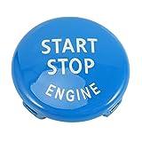 GGBEST Reemplazo de La Cubierta del Interruptor de Encendido del Botón de Arranque del Motor de Parada para X1 X3 X5 X6 Z4(E84,E83 Etc) 1 3 5 Series (E87,E90/E91/E92/E93,E60)(Azul)