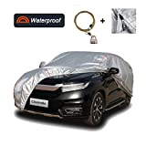 Coverado Deluxe Car Cover with Buid-in Storage Bag Door Zipper Windproof Straps and Buckles 100% Waterproof All Season Weather-Proof Fit 221'-236' Full Size SUV/Van