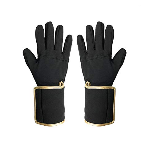 ZKHD Handschuhe Electro-Thermal, Outdoor Radfahren Lithium-Batterie Fever Handschuhe,Gold