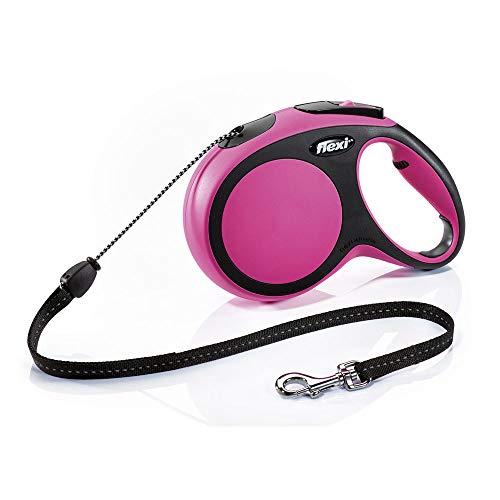 Global Flexi New Comfort S Uittrekbare hondenriem, roze, hondenriem, tot 15 kg, 5 meter lijn