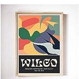 WEUEWQ Poster Wilco Gig Poster Klassische Wandkunst Vintage
