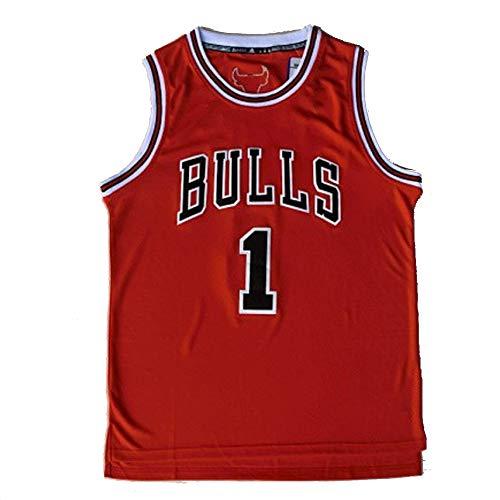 DWQ # 1 Camiseta de Baloncesto Rose Chicago Fan Version, Camiseta Deportiva sin Mangas Bordada clásica para Hombre Camiseta de Malla Informal Retro (S-2XL) M