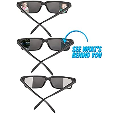 Bedwina Spy Glasses for Kids in Bulk - Pack of 3 Spy Sunglasses with Rear View So You Can See Behind You, for Fun Party Favors, Spy Gear Detective Gadgets, Stocking Stuffer Gifts for Boys and Girls by Bedwina