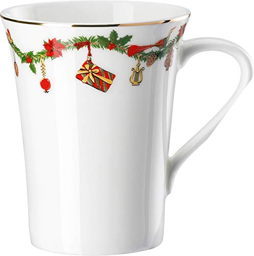 Hutschenreuther - Becher mit Henkel, Henkelbecher, Kaffeebecher - Nora - Christmas - Bone China - 400 ml