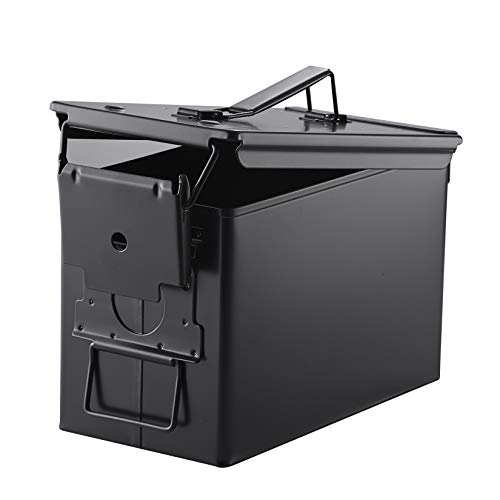 Metal Ammo Case Can – 50 Cal Military and Army Solid Steel...