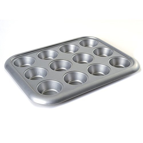 Norpro Nonstick More-Than-A-Muffin Pan, Standard, 12-Count, Grey