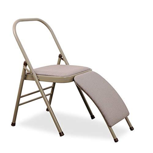 Apxzc yoga-stoel, opvouwbaar, draagbaar, hoofdsteun voor het hoofd, met lendensteun, ademend, duurzaam, gemakkelijk te reinigen, voor het rekken van de rugspieren