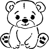 A5 'Cute Teddy Bear' Wall Stencil/Template...