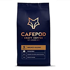 CAFEPOD Craft Coffee Beans – 100% Recyclable and resealable Packaging (Brunch 4 x 200g)