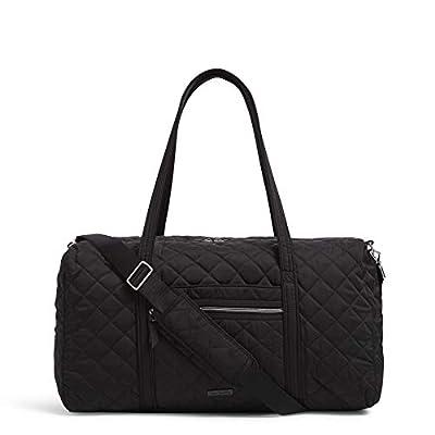 Vera Bradley Women's Performance Twill Lay Flat Travel Duffel Travel Bag, Black, One Size