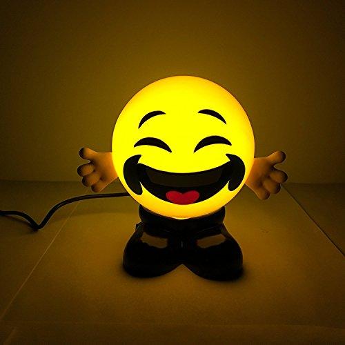 Wuchance CALALEIE Emoji LED Luces pequeñas para la Noche Smiley Face Bed Lámparas Regalos USB Accesorios de iluminación LED (Color : 4)