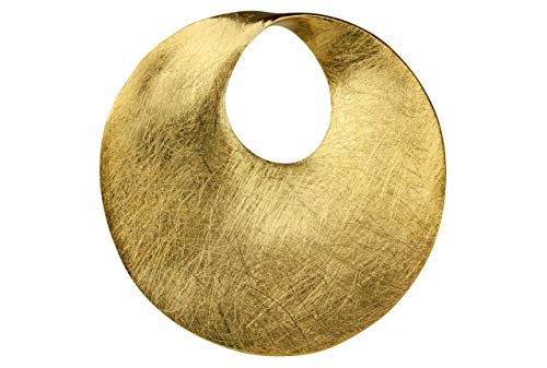 SILBERMOOS Anhänger vergoldet runde Scheibe Kreis offen matt Sterling Silber 925