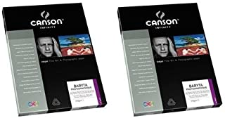 Canson Infinity 2 Pack Baryta Photographique Pure White Inkjet Paper, 310gsm, Satin, 8.5x11
