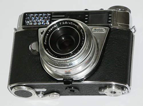 FOTOTECHNIK by LLL Kleinbildkamera Kodak Retina Automatic II + Objektiv Schneider-Kreuznach Retina-Xenar f=2,8/45mm mit Verschluss COMPUR - analoge Sucherkamera - Kodak seltene Camera
