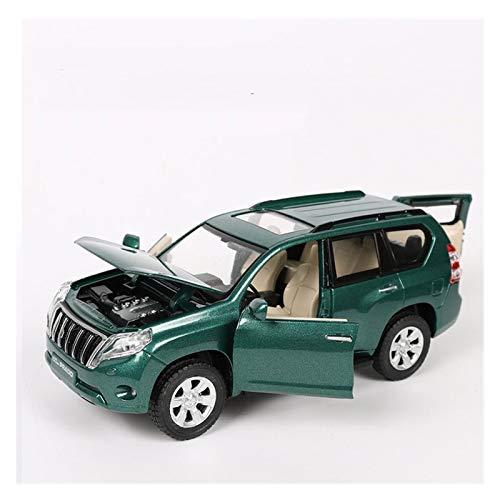 GEBAN Vehículo a Escala 1:32 para Toyota para Prado Land Cruiser Metal Model Model Toys with Spight para Los Niños Regalos De Cumpleaños Juegos Al Aire Libre