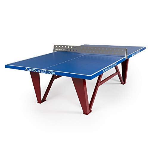 JOOLA Externa - Outdoor Table Tennis Table with Weatherproof Steel Ping Pong Net Set - Ping Pong Table for Commercial Use - German Engineered Table Tennis Table - Perfect for Parks & Community Centers