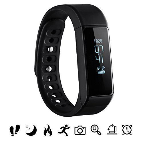 Activity Tracker, OMorc Braccialetto Sport IP65 Bluetooth 4.0 Smartwatch Orologio Fitness, Pedometro, Messaggio Notifiche, Monitor del Sonno, Telecomando Camera, Supporta Varie Modalità Sportive