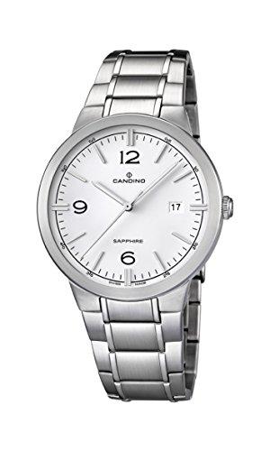Candino Herren Analog Quarz Uhr mit Edelstahl Armband C4510/1