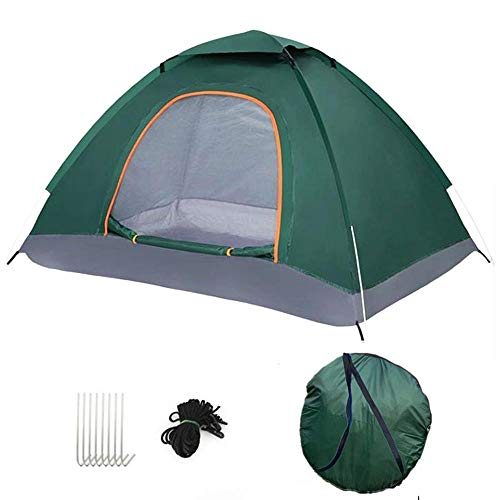 Compact Dome Tent, also Ideal for Camping in the Garden, Lightweight Camping and Hiking Tent, Outdoor Tent 100 Percent Waterproof above 1200 mm, Sewn-in Groundsheet, 190x 130 x 100 cm-Dark green