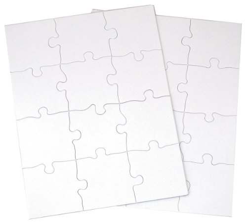 Inovart Puzzle It 12 Piece Blank Puzzle, 12 Puzzles Per Package, 8 1/2